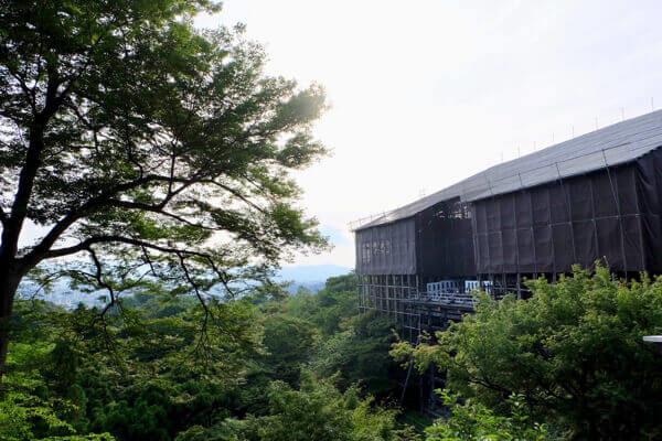 清水寺の清水の舞台(改修)