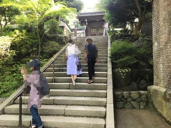 南禅寺の水路閣からインクラインへの階段