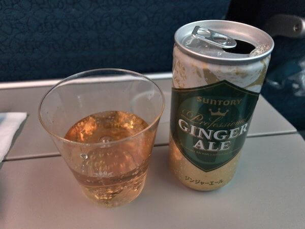 ベトナム航空で飲んだジンジャーエール