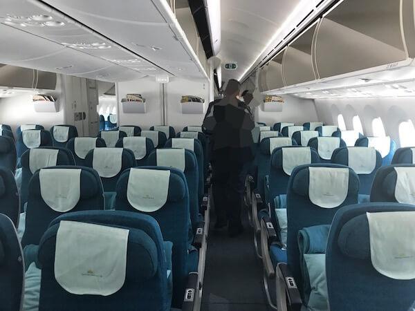 ベトナム航空ホーチミン行きの機内