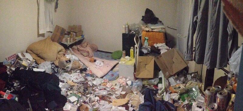 ゴミ屋敷、汚部屋の掃除前